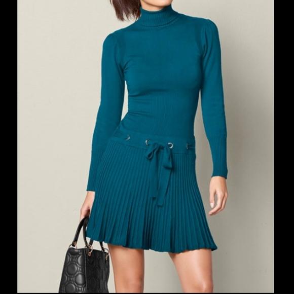 773b653157 VENUS Pleated Sweater Dress NWOT Dark Teal. M 5bf02b3b1b32940e9ce5fd80